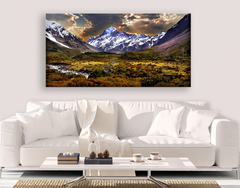 buy epic wall art of mountain ranges on xxl canvas prints