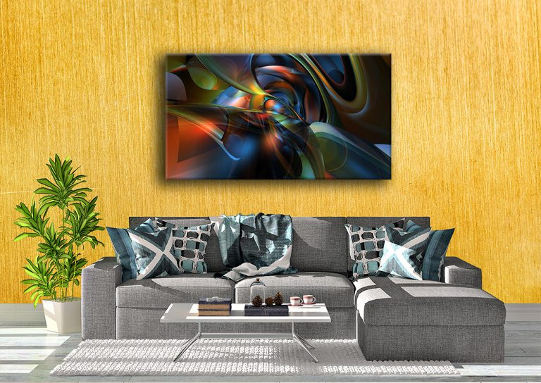 Coloured abstract swirls