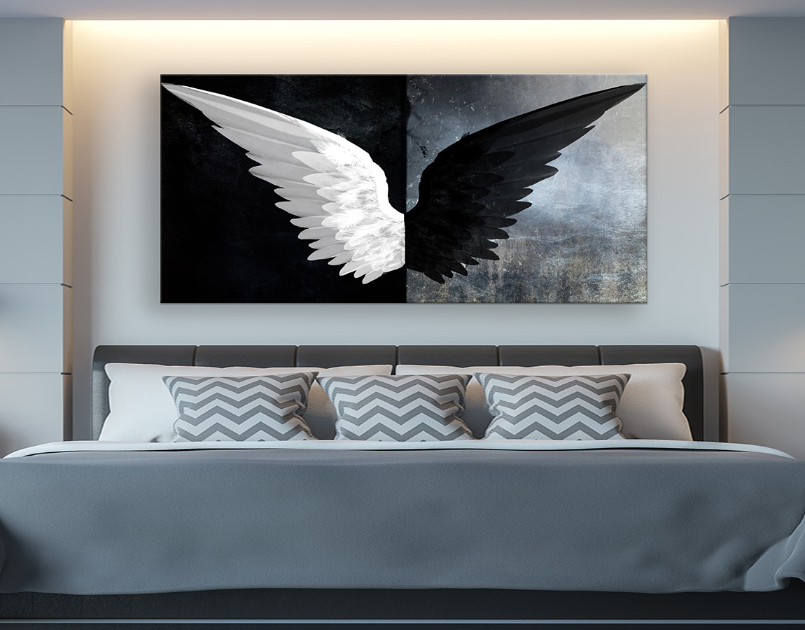 Black and white wings
