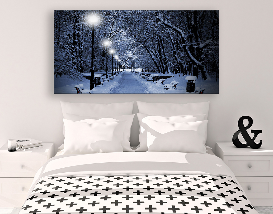 buy wall art of Snowy street large canvas prints