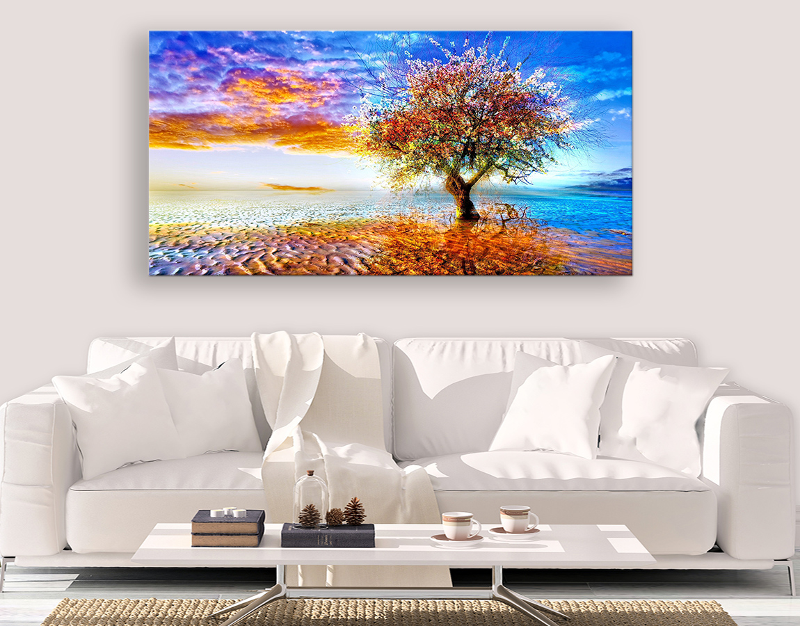 Sunset tree in paradise