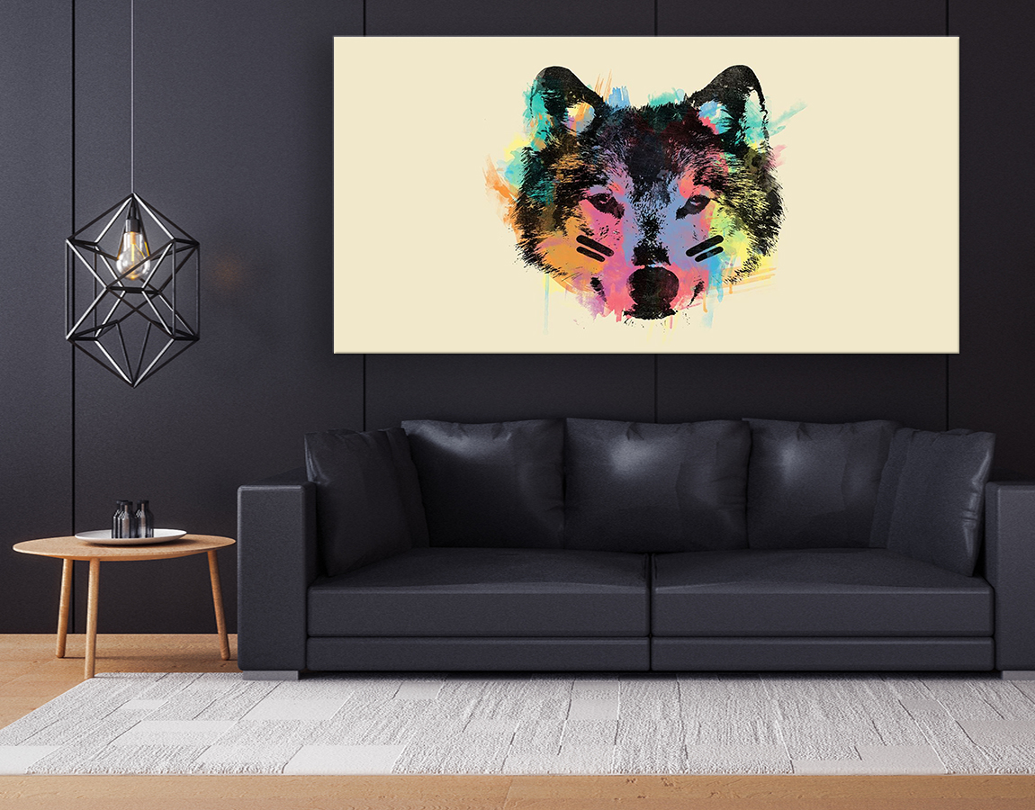 Artistic wolf face