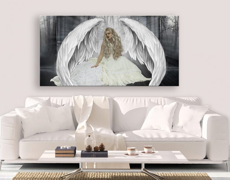 Stunning canvas prints of a Beautiful Angel Wings which comes in multiple sizes, s, m, l, xl, xxl.